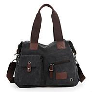Χαμηλού Κόστους Τσάντες αποσκευών και ταξιδίου-Καμβάς Συμπαγές Χρώμα Τσάντα ταξιδιού Φερμουάρ Συμπαγές Χρώμα Καφέ / Πράσινο Χακί / Χακί