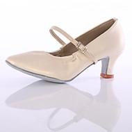 billige Moderne sko-Dame Moderne sko Fuskelær Høye hæler Tvinning Kubansk hæl Kan spesialtilpasses Dansesko Hvit