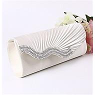 baratos Clutches & Bolsas de Noite-Mulheres Bolsas Cetim Bolsa de Mão Detalhes em Cristal Bege / Cinzento / Amêndoa