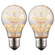 billige Globepærer med LED-2w e27 edison ledet pære a19 retro filament lys ac 220v - 240v for bar julefest natt atmosfære dekorasjon (2 stk)