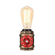 billige Lamper-vintage vannrør bordlampe industriell smijern med e26 / e27 edisonbase retro loft dekorasjon for stue nattlampe
