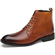 baratos Sapatos Masculinos-Homens Sapatos formais Pele Napa Outono Negócio / Casual Botas À Prova-de-Água Botas Curtas / Ankle Café / Marron / Vinho / Festas & Noite