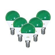 billiga Belysning-EXUP® 5pcs 5 W 450 lm E14 LED-globlampor G45 12 LED-pärlor SMD 2835 Gulligt / Kreativ / Party Grön 220-240 V / 110-130 V