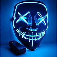 halloween maskin moottoripyörä naamio led valaistu puolue naamari selkeä vaalivuosi suuri hauska naamio festivaali cosplay puku tarvikkeet hehkuu pimeässä