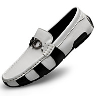 cheap New Arrivals-Men's Leather Shoes Nappa Leather Fall Business / Casual Loafers & Slip-Ons Massage White / Black