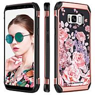 billiga Mobil cases & Skärmskydd-BENTOBEN fodral Till Samsung Galaxy S8 Stötsäker / Plätering / Mönster Skal Blomma Hårt TPU / PC för S8