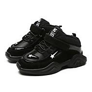 baratos Sapatos de Menino-Para Meninos Sapatos Couro Sintético Inverno Conforto Tênis para Preto / Cinzento