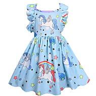 저렴한 -아동 여아 활동적 솔리드 기하학 민소매 드레스 블러슁 핑크