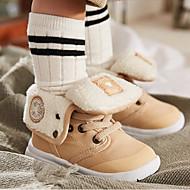 baratos Sapatos de Menino-Para Meninos / Para Meninas Sapatos Algodão Outono & inverno Coturnos Botas Cadarço para Bébé Preto / Vermelho / Khaki / Botas Curtas / Ankle