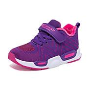 baratos Sapatos de Menino-Para Meninos / Para Meninas Sapatos Com Transparência Inverno Conforto Tênis Velcro para Infantil Preto / Roxo / Rosa claro / Estampa Colorida