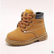 baratos Sapatos de Menino-Para Meninos Sapatos Couro Outono / Outono & inverno Conforto Botas para Bébé Preto / Amarelo / Marron / Botas Curtas / Ankle