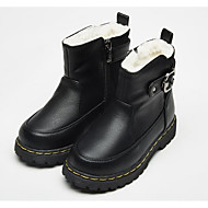 baratos Sapatos de Menina-Para Meninas Sapatos Couro Ecológico Inverno Botas da Moda Botas Presilha / Ziper para Infantil Preto / Vermelho