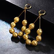 Boucles d'oreille goutte Femme Perles dames Original Bohème Bijoux Jaune Cool pour Mariage Soirée 1 paire