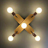 billige Taklamper-ZHISHU 5-Light Sputnik Flush Mount Lighting Nedlys Malte Finishes Metall Nytt Design 110-120V / 220-240V