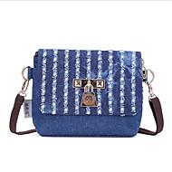 baratos Bolsas de Ombro-Mulheres Bolsas Poliéster Bolsa de Ombro Ziper Azul / Verde / Azul Céu