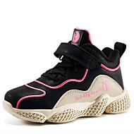 baratos Sapatos de Menina-Para Meninas Sapatos Sintéticos Primavera & Outono Conforto Tênis Caminhada Cadarço para Infantil / Adolescente Vermelho / Azul / Rosa claro