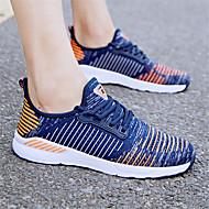 baratos Sapatos Femininos-Mulheres Tissage Volant Outono Esportivo / Casual Tênis Corrida Sem Salto Cinzento Claro / Preto / Vermelho / Azul Real
