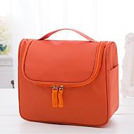 พีวีซี สีทึบ กระเป๋าเครื่องสำอางค์ ซิป สีทึบ ส้ม / สีบานเย็น / สีชมพู