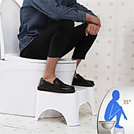 "Toilet Squat Stool Bathroom Toilet Stool Bathroom Squatting Stool for Potty Assistance Step Stool for Toilet Posture and Healthy Release Portable Compact Design 7"" 17cm"