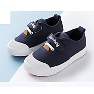 baratos Sapatos de Menino-Para Meninos / Para Meninas Sapatos Lona Primavera & Outono Conforto Tênis Velcro para Infantil Branco / Vermelho / Azul