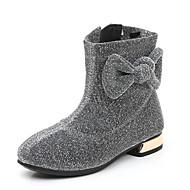baratos Sapatos de Menina-Para Meninas Sapatos Tecido elástico Primavera & Outono / Inverno Botas da Moda / Coturnos Botas para Infantil / Adolescente Preto / Prateado / Vinho