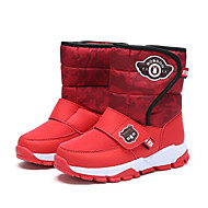 baratos Sapatos de Menina-Para Meninos / Para Meninas Sapatos Couro Envernizado Inverno Botas de Neve Botas Velcro para Infantil Fúcsia / Branco / Preto / Preto / Vermelho / Botas Cano Médio / Côr Camuflagem