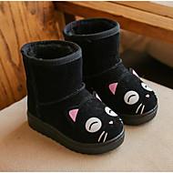 baratos Sapatos de Menina-Para Meninos / Para Meninas Sapatos Camurça Inverno Botas de Neve Botas para Infantil Preto / Rosa claro / Castanho Claro / Botas Cano Médio