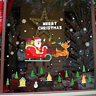 baratos Películas e Adesivos de Janela-Filme de Janelas e Adesivos Decoração Natal Personagem PVC Adesivo de Janela / Adorável / Engraçado