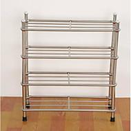 billige Skostativer & Bøjler-Skohylder og skobøjler Rustfrit stål 12 par Unisex Sølv