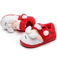 baratos Sapatos de Menina-Para Meninos / Para Meninas Sapatos Algodão / Pêlo Sintético Inverno Conforto Chinelos e flip-flops Pom Pom para Infantil Vermelho