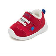 baratos Sapatos de Menino-Para Meninos / Para Meninas Sapatos Couro de Porco Outono & inverno Conforto / Primeiros Passos Tênis para Bébé Vermelho / Khaki