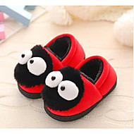cheap Kids' Slippers-Boys' / Girls' Shoes Satin Winter Comfort / Fur Lining Slippers & Flip-Flops Pom-pom for Toddler Coffee / Red / Pink / Color Block