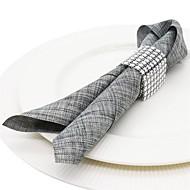 billige Bordduker-Moderne / Fritid Plast Rund Servietring Ensfarget Borddekorasjoner 10 pcs