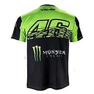 povoljno -motogp t-shirt jahanje odijela motocikl vr46 knight locy pamuk kratkih rukava trkaći odijelo majica