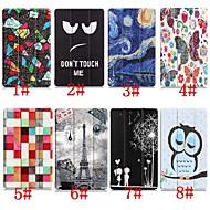 billiga Mobil cases & Skärmskydd-fodral Till Huawei MediaPad M5 10 / Huawei Mediapad M5 Lite 10 med stativ / Lucka / Mönster Fodral Eiffeltornet / Oljemålning / Uggla Hårt PU läder för Huawei Mediapad M5 Lite 10 / MediaPad M5 10
