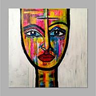 billiga Abstrakta målningar-Hang målad oljemålning HANDMÅLAD - Abstrakt / Människor Klassisk / Moderna Duk