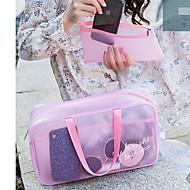 PVC Συμπαγές Χρώμα Τσάντα καλλυντικών Φερμουάρ Συμπαγές Χρώμα Λευκό   Μαύρο    Ροζ a70976609ed