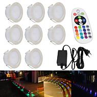 baratos Focos-YWXLIGHT® 1pç 5 W Impermeável / Regulável RGB 100-240 V Iluminação Externa / Pátio / Jardim 24 Contas LED