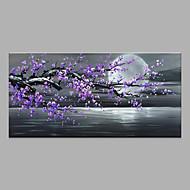 billiga Abstrakta målningar-Hang målad oljemålning HANDMÅLAD - Abstrakt / Blommig / Botanisk Moderna Utan innerram