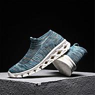 baratos Sapatos Masculinos-Homens Sapatos Confortáveis Tissage Volant Outono Esportivo Tênis Corrida Branco / Preto / Vermelho Escuro / Azul Claro