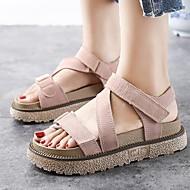 baratos Sapatos de Menina-Para Meninas Sapatos Microfibra Verão Conforto Sandálias para Adolescente Preto / Amêndoa / Khaki