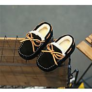 tanie Obuwie chłopięce-Dla chłopców / Dla dziewczynek Obuwie Zamsz Zima Mokasyny Mokasyny i buty wsuwane na Czarny / Szary / Khaki