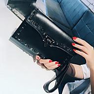 baratos Clutches & Bolsas de Noite-Mulheres Bolsas PU Bolsa de Mão Ziper Preto / Cinzento / Verde Escuro
