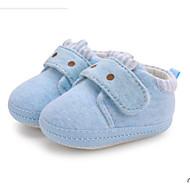baratos Sapatos de Menino-Para Meninos / Para Meninas Sapatos Algodão Inverno Conforto / Primeiros Passos Rasos para Bebê Cinzento / Rosa claro / Azul Claro