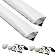 billige belysning Tilbehør-zdm 2pcs 0,5m aluminium ledet kanal ledet aluminium kanal system med deksel end caps og monteringsklemmer for led strip installasjoner