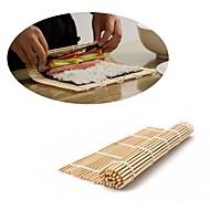 Japansk sushi rulle bambus mat hånd rulle diy maker ris mold 24cm