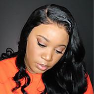 Virgin kosa Ljudska kosa 6x13 Zatvaranje Lace Front Perika Duboko udaljavanje Stražnji dio stil Brazilska kosa Tijelo Wave Perika 250% Gustoća kose s dječjom kosom Gust Prirodna linija za kosu