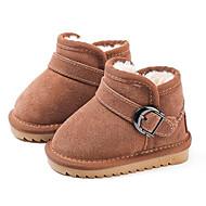 baratos Sapatos de Menina-Para Meninos / Para Meninas Sapatos Pele Inverno Botas de Neve Botas Presilha para Bébé Camel / Vinho / Rosa Claro / Botas Curtas / Ankle