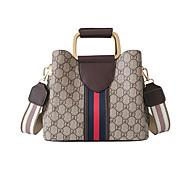 Damen Taschen PU Tragetasche Muster / Druck / Reißverschluss Schwarz / Rote / Kaffee