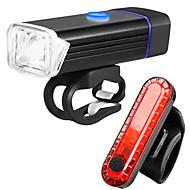 billige Sykkellykter og reflekser-Frontlys til sykkel LED Sykkellykter Sykling Anti-Tåke, Vanntett, Bærbar Oppladbart Li-ion Batteri 1000 lm Oppladbar Hvit Sykling